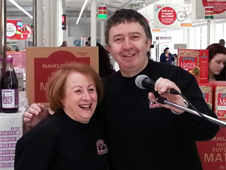 Hilary and Phil at Sainsbury's Roadshow